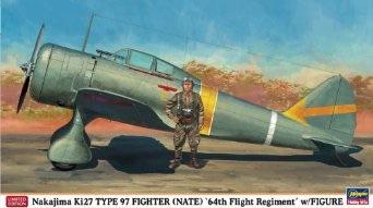 1/48 ハセガワ 中島キ27 九七式戦闘機 飛行第64戦隊 w/フィギュア