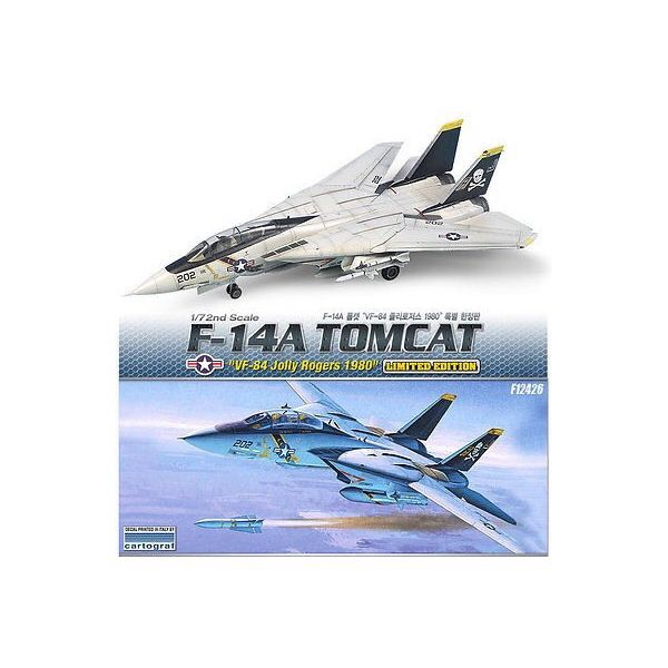 1/72 アカデミー  F-14A トムキャット ジョリーロジャース 1980