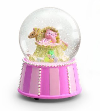 RUSS baby ラスベビー  ベアミュージカル スノードーム  ピンク