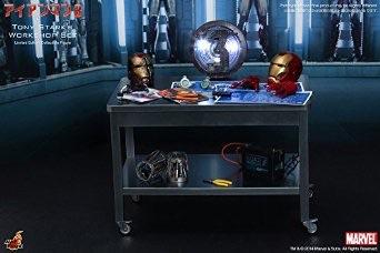 1/6 HOT TOYS ホットトイズ アクセサリーコレクション アイアンマン3 トニー・スタークの開発作業セット