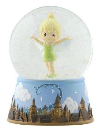プレシャスモーメント ディズニー ティンカーベル 'Girl As Tinker Bell Over London Skyline'' ウォーターボール スノードーム