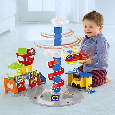 Fisher Price フィッシャープライス リトルピープル Spinnin sounds Airport エアポート