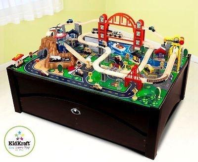 Kidkraft キッドクラフト トレイン & テーブル レールセット