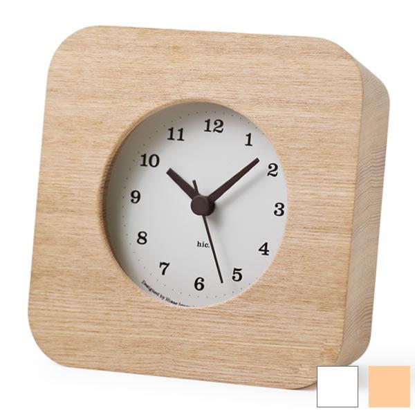 タカタレムノス lemnos 置き時計 cake ケーク HIL10-18 HIL11-12 電波時計 電波 置時計 木目 五十嵐久枝 目覚まし時計 目覚まし 時計 アラーム おしゃれ 人気 スイープムーブメント 連続秒針 北欧 クロック 305252 音がしない