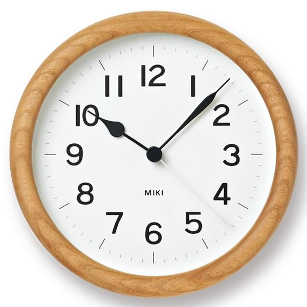 タカタレムノス lemnos 掛け時計 MIKI ミキ ケヤキの時計 NY12-06 置き時計 掛置き 木目 壁掛け 木製 壁掛け時計 時計 おしゃれ 人気 デザイン インテリア 北欧 クロック 305252