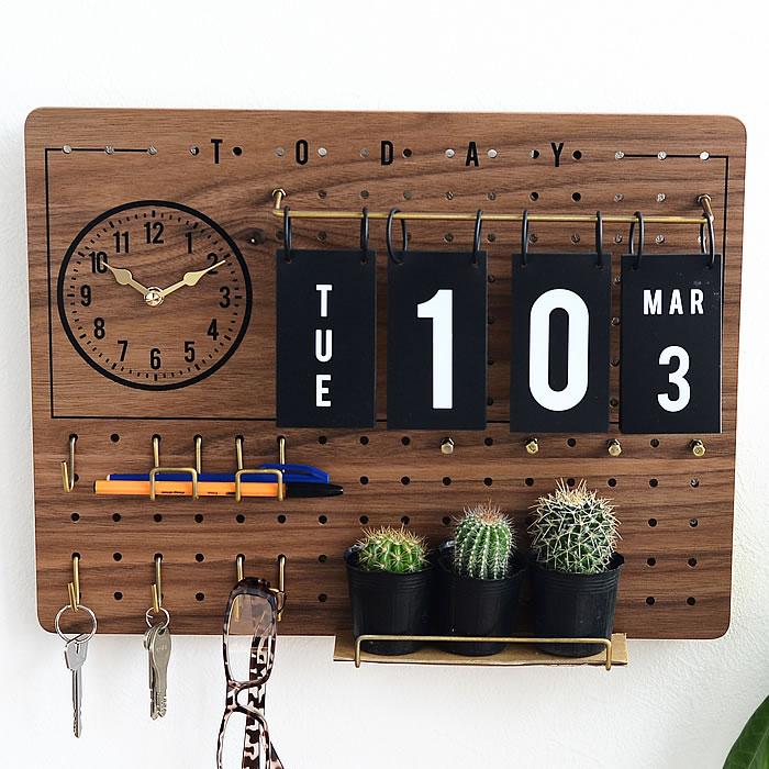 ペグボード 時計 ペグボード カフェ&日めくりカレンダー付きペグボード フック付き パンチングボード 木目 セット 壁 壁 カフェ インテリア おしゃれ 有孔ボード 北欧 新築祝い 箱入, BLAST:87d4ebab --- jpscnotes.in