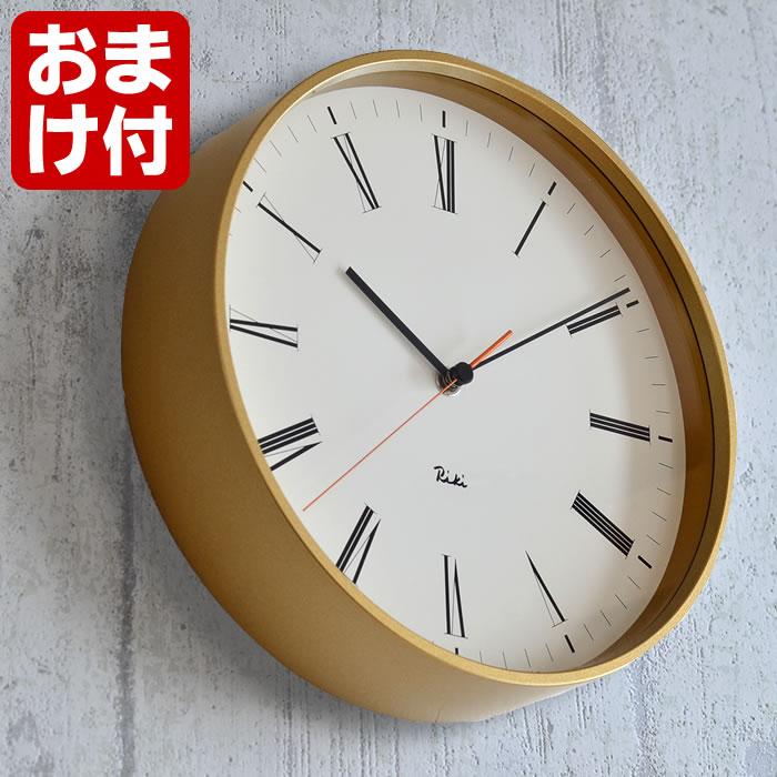 タカタレムノス リキ ローマンクロック 掛け時計 WR17-12 Lemnos RIKI ROMAN CLOCK シンプル モダン 日本製 スイープセコンド 静か 壁掛け時計 おしゃれ 渡辺力 リキクロック プレゼント ギフト