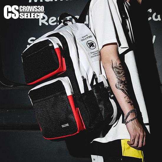 バイカラーミリタリーリュックサック メンズファッション 当店は最高な お歳暮 サービスを提供します リュックサック メンズ バックパック ディバッグ デイバッグ インポート バイカラー ミリタリーバッグ BAG PU ユニセックス 男 鞄 個性的 40代 黒 V系 ヴィジュアル系 30代 衣装 BITTER系 オラオラ系 お兄系 ブラック ホスト ビター系 悪羅悪羅系