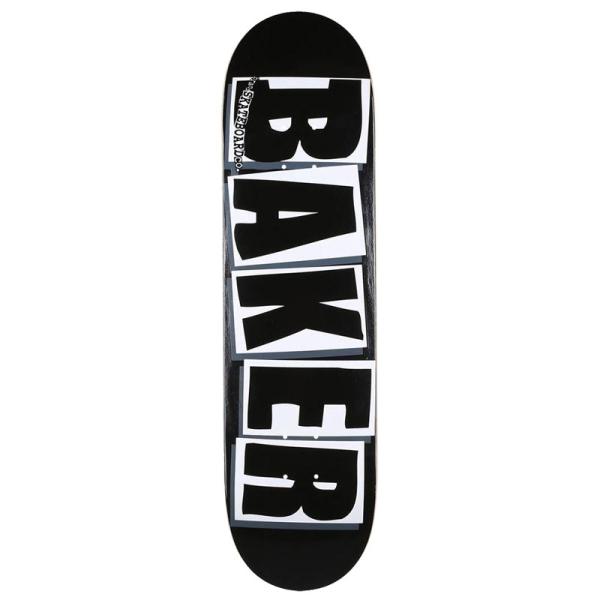 ベーカー BAKER/BRAND LOGO BLACK/WHITE 8.0 デッキ