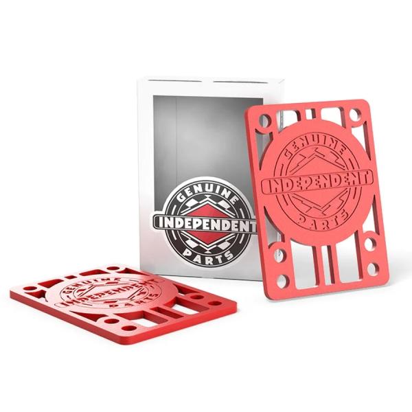 スケートボード ライザーパッド インディペンデント INDEPENDENT RED パット1 ご注文で当日配送 ライザー 8 大幅値下げランキング