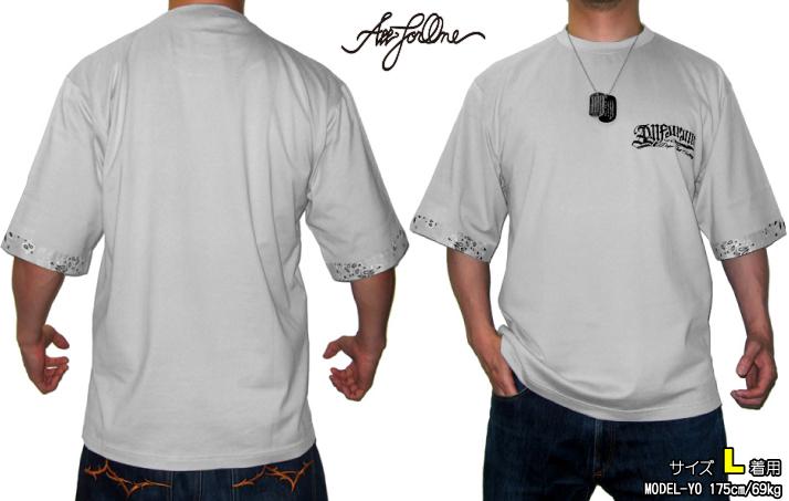 AFO PAISLEY BANDANA T shirts グレー【完全受注生産】半袖 バンダナ柄 Tシャツ ティーシャツ BIG SIZE ビッグサイズ 大きいサイズ