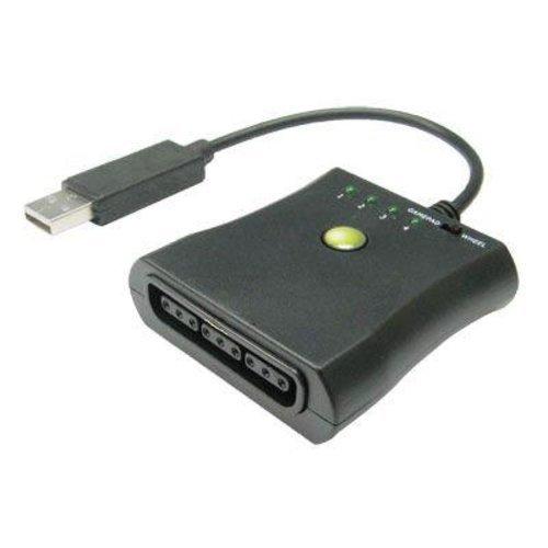 メ-ル便 プレイステーション2 のコントローラーをXBOXで使える [ネコポス 送料込] PS2コントローラーをXBOX360 使用変換でアダプター PlayStation2 をXB360でプレイできる (1228-00)