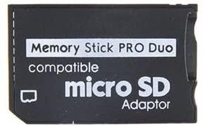 メ-ル便 毎日がバーゲンセール microSDからメモステ MSへ変換できる 定形外 送料込 microSDHC microSD stickへ変換するadapter PSPでセーブデータ画像データに便利 マイクロSDをmemory ProDuo 変換アダプター 捧呈 at_0007-00 メモリースティック