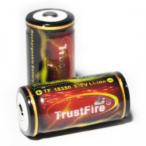 TrustFire Battery 1200mAh 特価キャンペーン LEDライト 懐中電灯 ネコポス 送料込 バッテリー 18350 ケース付き 新作続 x2個セット at_1651-02 3.7V リチウムイオン 充電池 WF-501A用 Li-ion