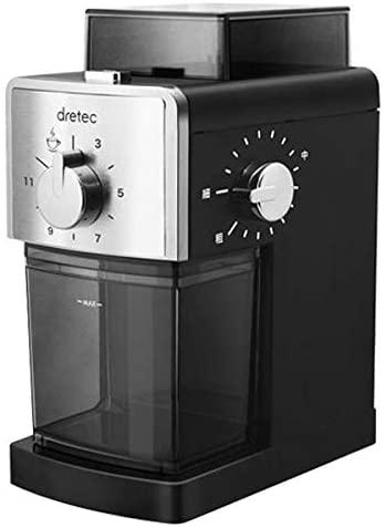ひと味違う挽きたての香り 朝から至福のひとときを ドリテック 人気ブレゼント dretec 至上 コーヒーグラインダー SUPREMO コーヒーミル ワンタッチで自動挽き スプレモ CG101BK 電動