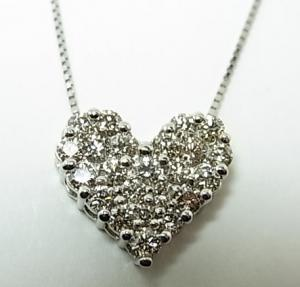 プラチナ ダイヤモンドペンダントネックレス 1,00CT10P03Dec16