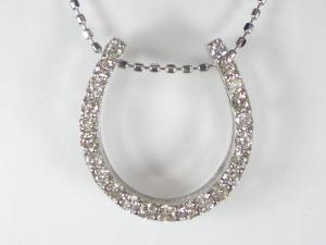 K18WGダイヤ ペンダント ネックレス10P03Dec16