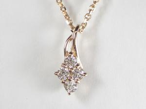 K18PG ピンクゴールド ダイヤモンド ペンダント ネックレス10P03Dec16