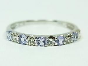 プラチナ ダイヤ&タンザナイトリング10P03Dec16
