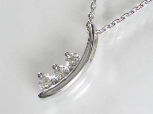 K18WG ホワイトゴールド ダイヤモンド ペンダント ネックレス10P03Dec16【楽ギフ_包装】