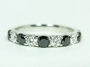 プラチナ ダイヤ&ブラックダイヤリング 1.00CT10P03Dec16