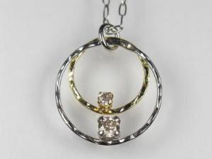 PT プラチナ/K18YG イエローゴールド ダイヤモンド ペンダント ネックレス10P03Dec16