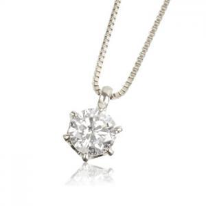 K18WG 0.3ctダイヤモンド ネックレス10P03Dec16