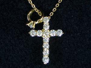 K18YG K18YG イエローゴールドダイヤモンド クロス ペンダント ペンダント ネックレス10P03Dec16, ラビットショップ:826142fe --- novoinst.ro