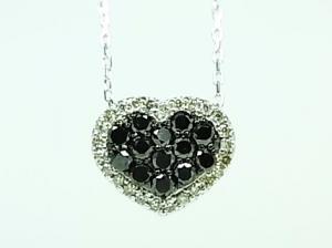 K18WGブラックダイヤ&ダイヤペンダントネックレス 0.44CT10P03Dec16