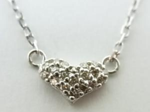 K10WGダイヤモンドペンダントネックレス 0,1CT10P03Dec16