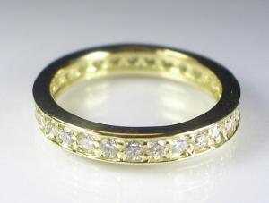 K18YG イエローゴールド ダイヤモンド リング 1.00CT10P18Jun16