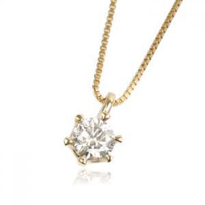 K18YG 0.2ctダイヤモンド ネックレス10P03Dec16