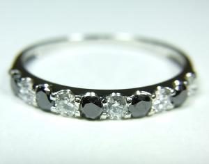 プラチナ ダイヤモンド/ブラックダイヤモンドリング10P03Dec16