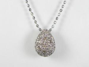 K18WGダイヤモンド ペンダント ネックレス10P03Dec16
