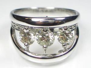 K18WG ホワイトゴールド ダイヤモンド リング10P03Dec16
