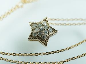 K18P ダイヤモンド 星型のペンダント10P03Dec16