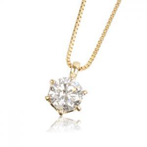 K18YG 0.3ctダイヤモンド ネックレス10P03Dec16