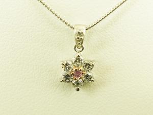 花形ピンクダイヤモンド プラチナネックレス10P03Dec16