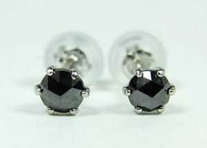 プラチナ ブラックダイヤモンド ピアス 0,3CT10P03Dec16