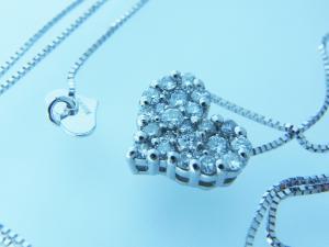 プラチナ/ホワイトゴールド ダイヤペンダント 0.300ct10P03Dec16