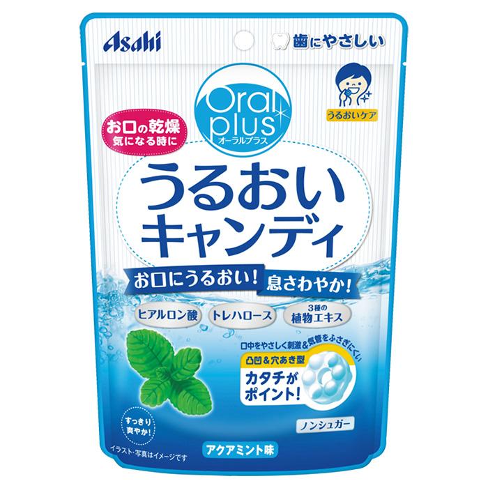 アサヒグループ食品 日本全国 送料無料 本店 うるおいキャンディ アクアミント味 口腔ケア