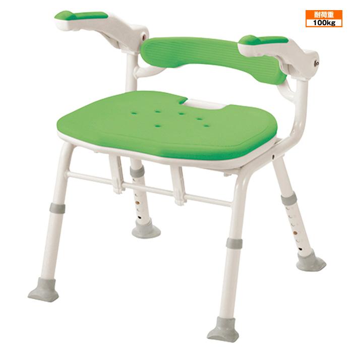 アロン化成 折たたみ シャワーベンチ ISフィット 骨盤サポート お風呂椅子 シャワーチェア