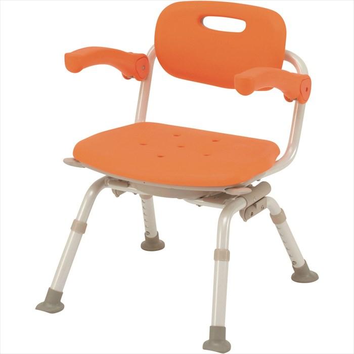 パナソニック エイジフリー シャワーチェア ユクリア ミドルSP 回転 おりたたみN オレンジ PN-L41221D お風呂 イス (椅子) Panasonic 介護用 バスチェア シャワーベンチ お風呂椅子