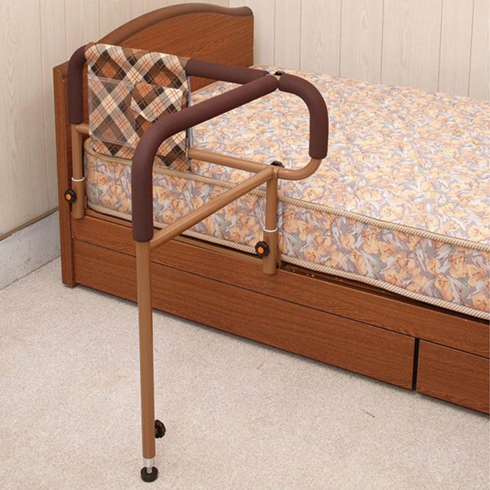吉野商会 ささえニュータイプ (移動バー付) ベッド 手すり 既存ベッドに設置