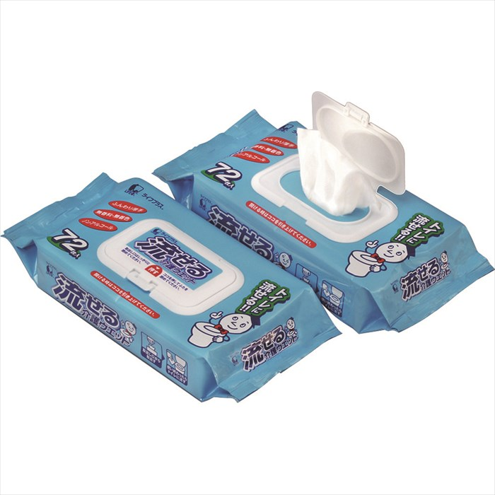 近澤製紙所 流せる介護ウェット 72枚入 WP72F トイレに流せるからだふき 推奨 高額売筋