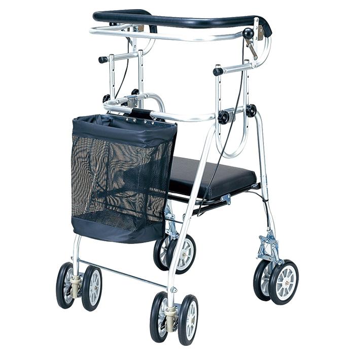五十畑工業 アシストシルバーカーニューDX コの字ハンドブレーキ 歩行車 歩行器