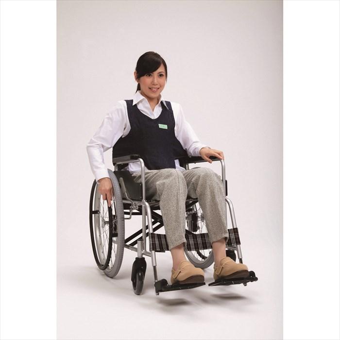 フットマーク 車いす用ワンタッチベルトキーパーEXネイビー 安い ベルトなし 車椅子での姿勢保持 綿100% 403655 再販ご予約限定送料無料