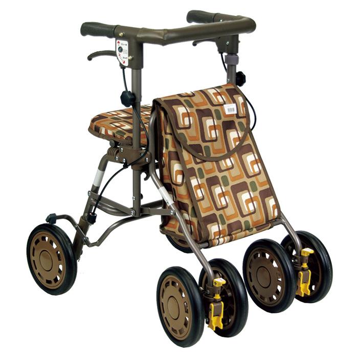 島製作所 シンフォニーライト 開店祝い GAブラウン 歩行車 定番から日本未入荷 歩行器 介護用 高齢者 老人