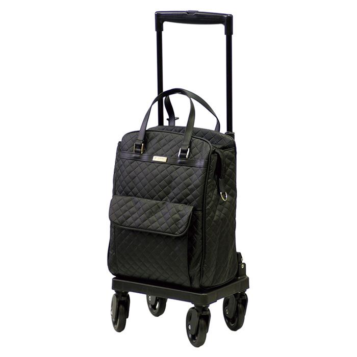 島製作所 メロディスムーズ キルティングBK ショッピングカート シルバーカー サイドカー 4輪 保冷バッグ