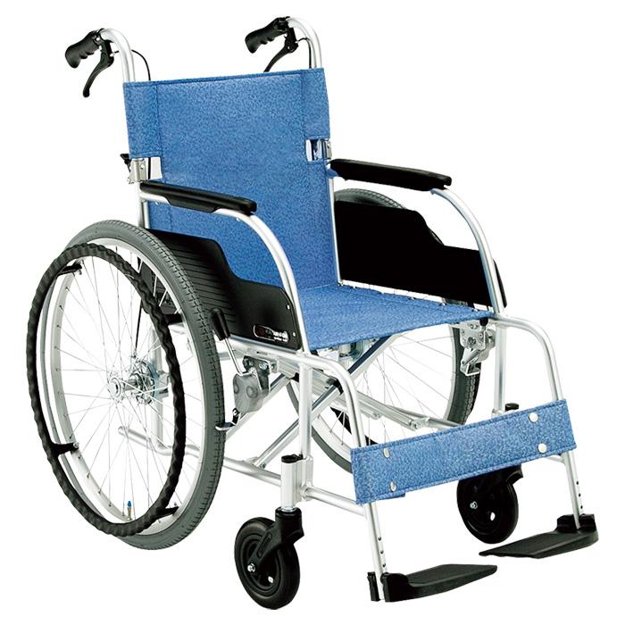 松永製作所 自走用車椅子 ECO-201B 折りたたみ アルミ軽量車椅子 ドラム式介助ブレーキ付【代引き不可】